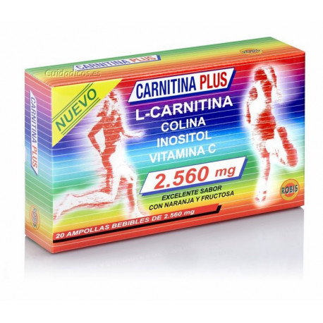 CARNITINA PLUS 20 AMPOLLAS ROBIS